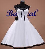 50er Jahre Tanzkleid Brautkleid Kleid Vintage Hochzeit Neu Petticoat 34-48 AC103