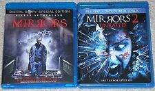 Horror Blu-ray Disc Lot - Mirrors (Used) Mirrors 2 (Used)