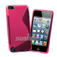 Pink Gel TPU Case Cover Skin For iPod Touch 5 / 6 Generation 5th 6th Gen