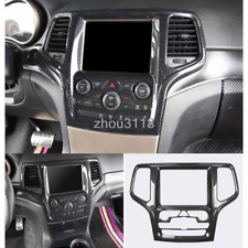 ABS Carbon Fiber Center Console GPS Panel Trim For Jeep Grand Cherokee 2014-2019