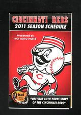 Cincinnati Reds--2011 Pocket Schedule--Koi Auto Parts