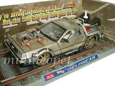SUN STAR 2714 BACK TO THE FUTURE TIME MACHINE DMC DELOREAN 1/18 PART 3 RAILROAD