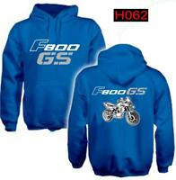 Felpa cappuccio blu moto personalizzata Bmw F800 Gs hoodie sweatshirt H062