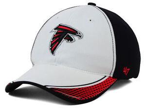Atlanta Falcons 47 Brand Closer NFL White and Navy flex fit hat cap  S/M