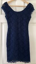 Forever 21 Short Blue Lace Dress Small S