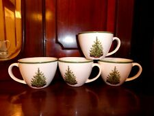 Christopher Radko Traditions Christmas Tree Mugs Cups, Set Of 4