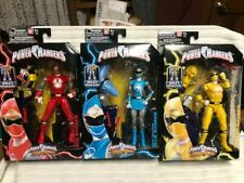 Power Rangers Legacy Ninja Storm Red Blue Yellow Lot Complete w/ Storm Megazord