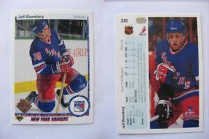 1990-91 Upper Deck #370 Jeff Bloemberg 1/1 RC UD 30 buyback  rangers 1 of 1