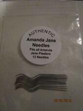 NEW AMANDA JANE SMOCKING PLEATER NEEDLES  PKG OF 12 FOR AMANDA JANE PLEATER