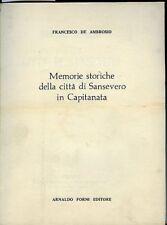 Memorie storiche della città di Sansevero in Capitanata. Francesco De Ambrosio