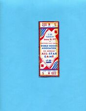 January 18, 1977 5th Annual WHA All-Star Game Full Ticket at Hartford, Conn