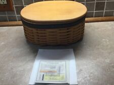 Longaberger Cc Harmony Basket No 1 w/ 2 Protectors , Wood Lid and Certificate