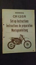 Montageanleitung Zusammenbauanleitung Honda CR 125 R