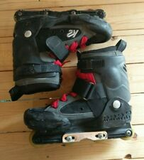 Vtg K2 125 cc Aggressive Inline Skates Men's Size 11 w/ Wheel Adjust Tool