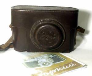 1950th USSR made Original  Leather Case fo Zorki camera + English Manual.