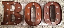 """Halloween Boo Rustic Orange Marquess Letters, Lights, Decoration, 9"""" Each"""