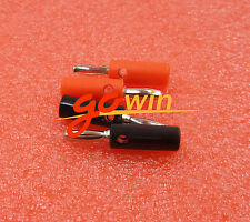 4pcs Black&Red Set 4mm Iron Pin Banana Plug Speaker Screw Wire Cable Connector