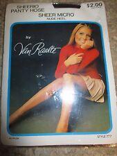 "Van Raalte Vintage Jet Black Nylon Pantyhose - Size Medium -1970's -5'3"" to 5'6"""