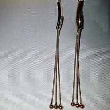 Ladies Long Dangle Earrings Gold Drop Tassel Ear Jewellery Party Casual 1118