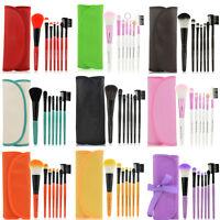 KIT 7pcs Pro Pinceaux Brosse Brush Cosmétiques Maquillage Trousse Make Up Cadeau