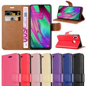For Samsung Galaxy A40 Phone Case Leather Wallet Flip Book Cover