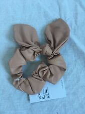 NEW TopShop Pale Pink Leather Wired Bow Scrunchie Hair Tie  RRP £4