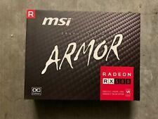 AMD ATI MSI VGA Video Graphic Card RX580 Armor 8G OC