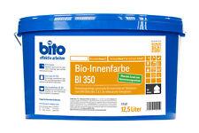 Bio Wandfarbe Innenfarbe bito BI 350 matt weiß weiss auf Silikatbasis 12,5 Liter