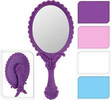 Vintage Style Oval Hand Held Vanity Mirror Folding Standing Makeup Dresser