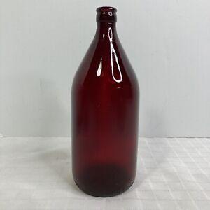 Vintage 1950s Royal Ruby Quart Size Red Anchor Glass Schlitz Beer Bottle