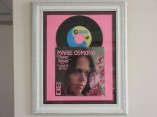 FRAMED ' MARIE OSMOND ' HIT 45' & PICTURE SLEEVE      THE 70's!