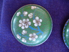VINTAGE GREEN CLOISONNE  TRINKET, PILL BOX - CHINESE **ESTATE HOARD**