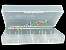 1 x 18650/16340/CR123A Transparent White Battery Case Holder Storage Box