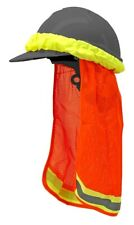Orange Construction Safety Hard Hat Neck Shield Cover Protective Sun Shade