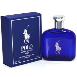 Ralph Lauren Polo Blue 4.2 oz / 125 ml Eau de Toilette EDT Spray NEW, SEALED