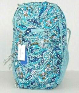 Vera Bradley Lighten Up Journey Backpack DAISY PAISLEY Laptop Sleeve MSRP $175