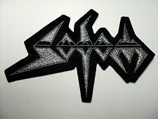 SODOM  SHAPED  SILVER  LOGO    EMBROIDERED PATCH