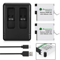 1500mAh AHDBT-501 Battery & USB Dual Charger For GoPro Hero 5 Black Hero 6 Cam