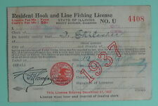 1937 Illinois Department of Conservation Resident Fishing License.Free Ship!