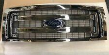09 thru 14 Ford F150 OEM Genuine Ford 2 Bar Chrome Grille Grill w/Emblem NEW