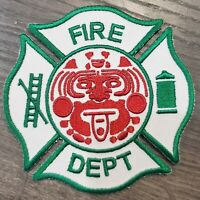Mexican Firefighter Maltese Cross Patch Fire Department
