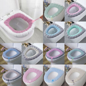 Bathroom Toilet Seat Closestool  Mat Cover Pad Cushion Washable Soft Warm Winter