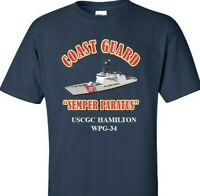 USCGC HAMILTON  WPG-34 *COAST GUARD  VINYL PRINT SHIRT/SWEAT