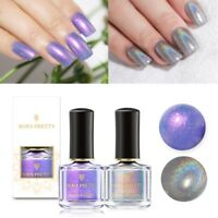 2Bottles BORN PRETTY Holographic Nail Polish Chameleon  Shell Varnish Set