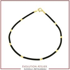 Bracelet Gold 18 Carats and Rubber