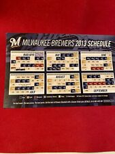 MILWAUKEE BREWERS 2013 MAGNETIC SCHEDULE