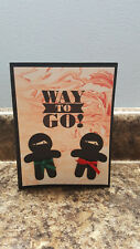 1 Handmade Stampin Up Karate Ninja Greeting Card, Way to Go