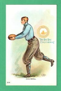 RARE 1905 ULLMAN COLUMBIA UNIVERSITY POSTCARD FOOTBALL PLAYER KICKING