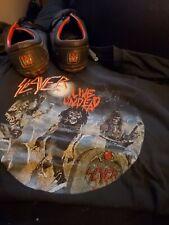 Slayer Vans And Shirt Used. Sz 9.5 And Large Shirt