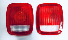 Jeep Tail Light Lens Pair CJ 1976-1986 Wrangler YJ TJ 1987-2006